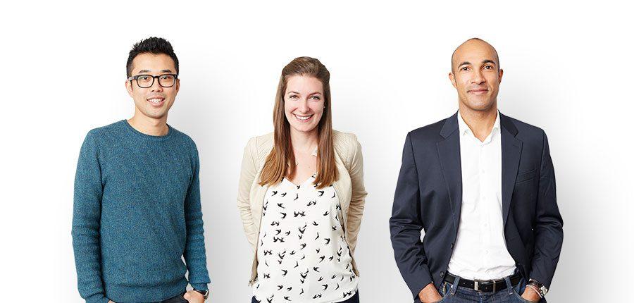 Photo of Jim Chou, Sharon Briggs and Philippe Lyko