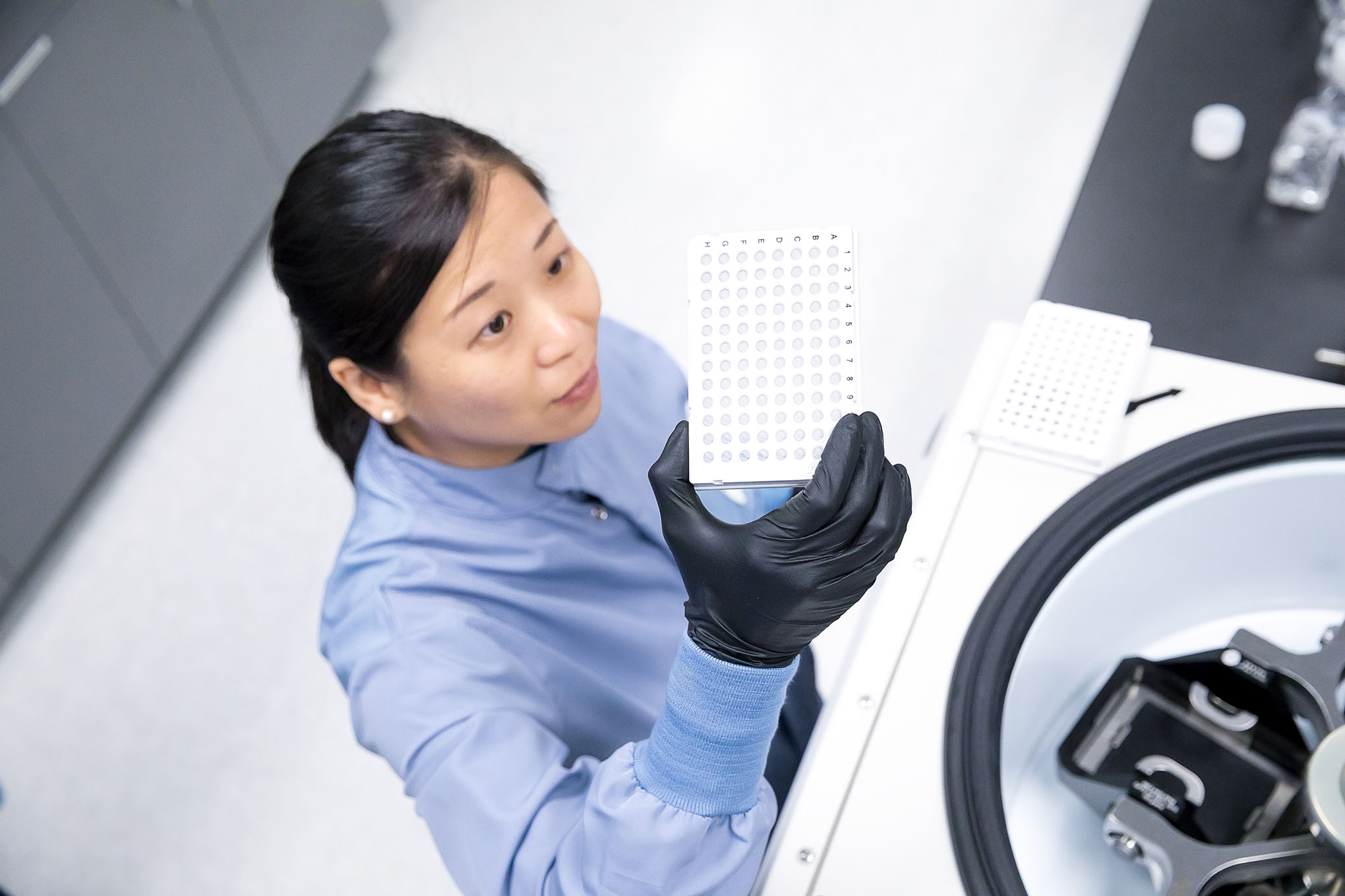 Helix sample examination
