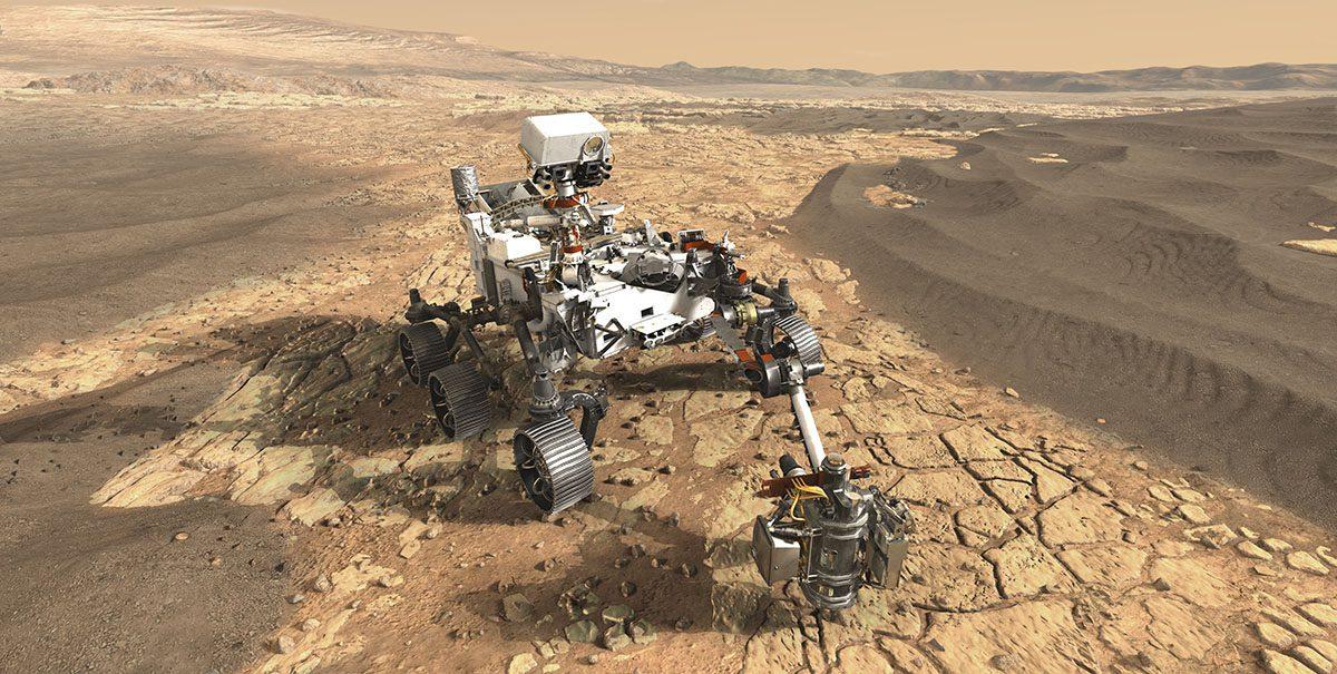 Mars rover probes dirt